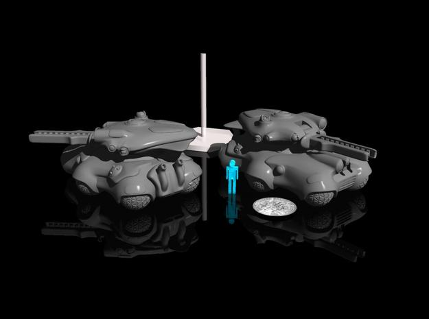 15mm Alien Tank - Turret 3d printed the barrel and body are sold seperately.