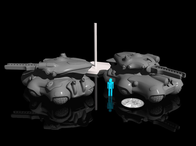15mmAlienTankBarrel 3d printed turret and body sold seperately