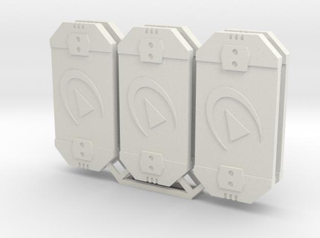 Star Wars Armada Redirect Defense Tokens in White Natural Versatile Plastic
