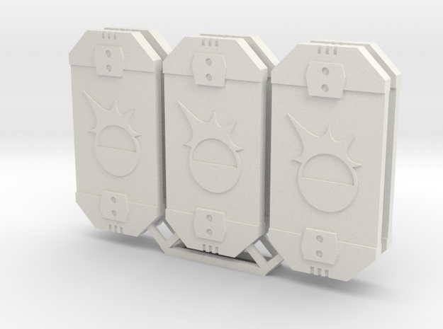 Star Wars Armada Brace Defense Tokens in White Natural Versatile Plastic