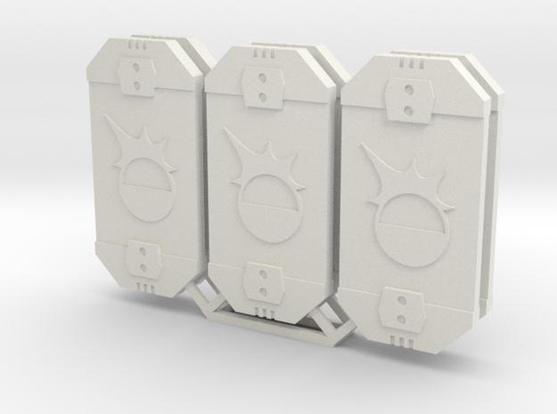 Star Wars Armada Brace Defense Tokens in White Natural Versatile Plastic