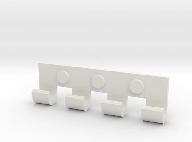 """Topbar for Immortan Joe """"500"""" Badge / Medal in White Natural Versatile Plastic"""
