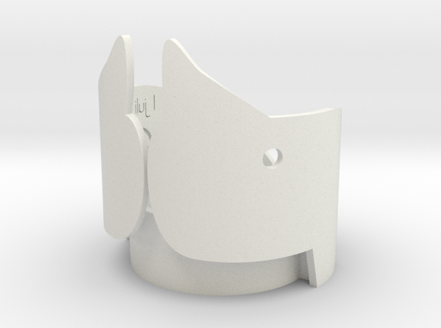 Candle holder Rhino in White Strong & Flexible