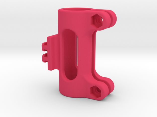 "Contour T-Rail 5/8"" Pipe/Pole Mount Style 2 in Pink Processed Versatile Plastic"