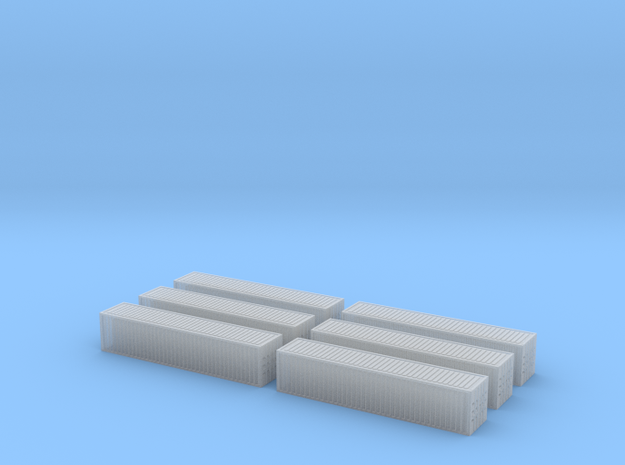 1/450 Container 40ftx6 in Smooth Fine Detail Plastic