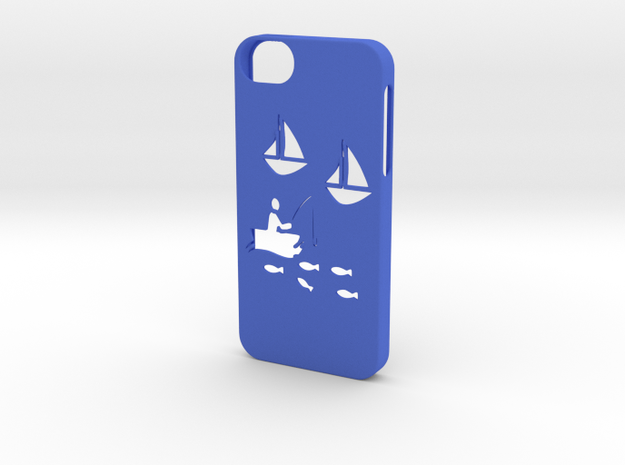 Iphone 5/5s fishing case in Blue Processed Versatile Plastic