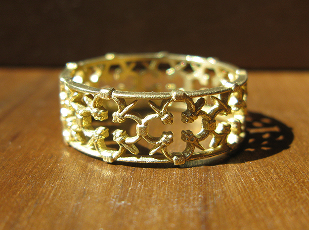 Gothic Lattice Ring (Open)