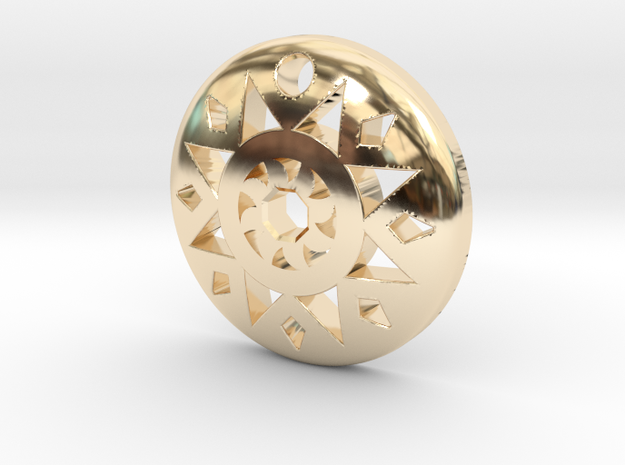 Sun Pendant  in 14k Gold Plated Brass