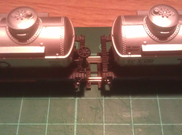N Scale 8mm Fixed Coupling 3d printed (12mm Coupling Used In Photo)
