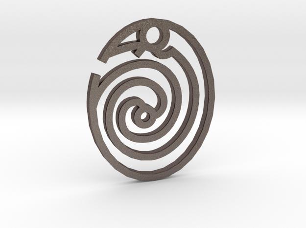 Ouroboros / Uroboros in Polished Bronzed Silver Steel