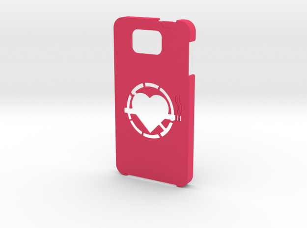 Samsung Galaxy Alpha No smoking case  in Pink Strong & Flexible Polished