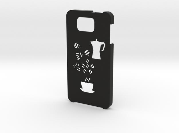 Samsung Galaxy Alpha Coffee case in Black Natural Versatile Plastic