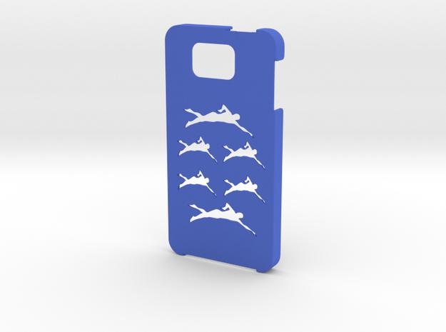 Samsung Galaxy Alpha Swimming case in Blue Processed Versatile Plastic