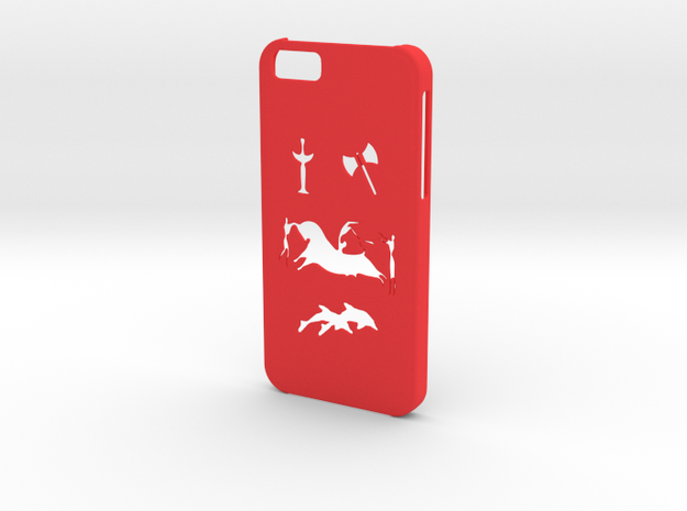 Iphone 6 Minoan civilization case in Red Processed Versatile Plastic