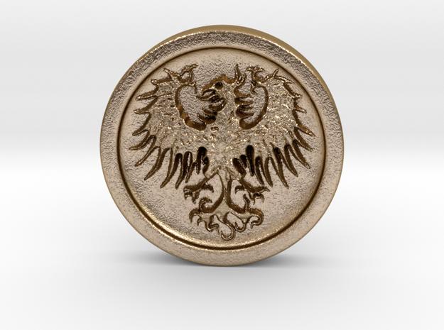 Resident Evil 2: Eagle medal in Polished Gold Steel