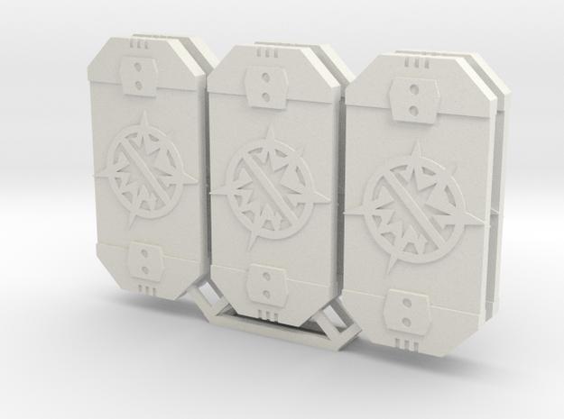 Star Was Armada Contain Defense Token in White Natural Versatile Plastic