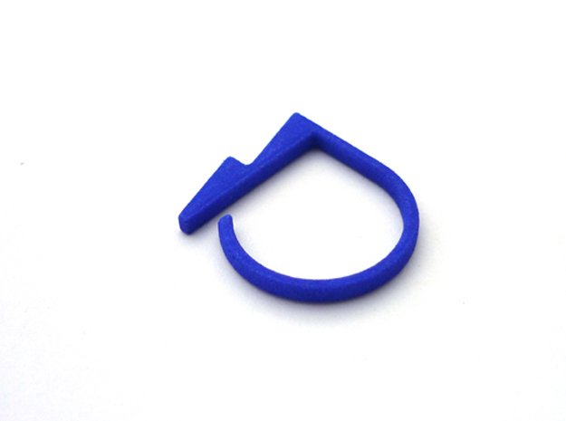 Adjustable ring. Basic model 5. in Blue Strong & Flexible Polished