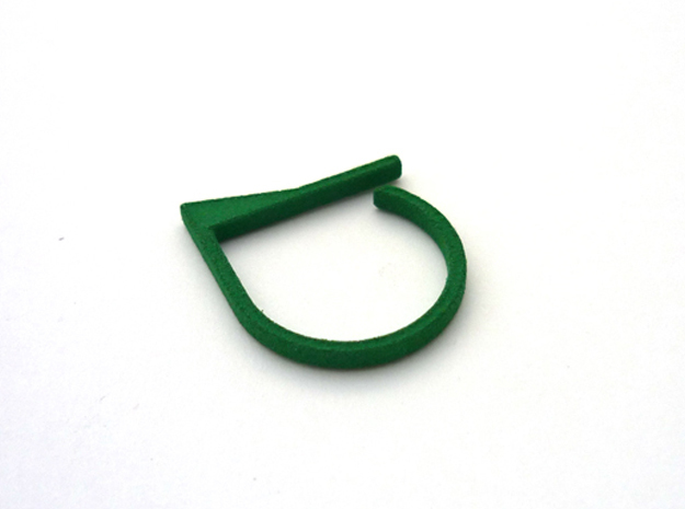 Adjustable ring. Basic model 7. in Green Strong & Flexible Polished