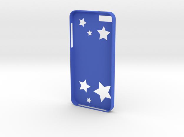 Stars iPhone Case in Blue Processed Versatile Plastic