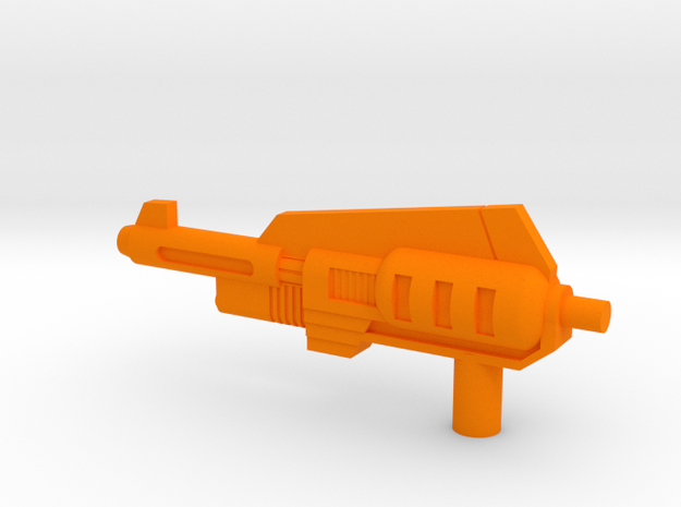 Snarl Gun 60 mm in Orange Strong & Flexible Polished