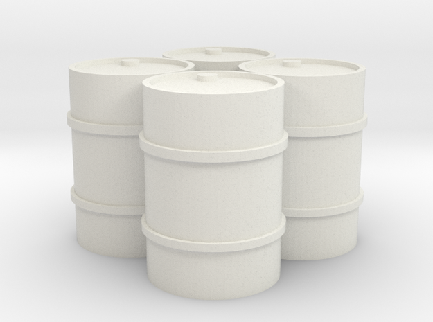 44 Gal 4 Pack in White Natural Versatile Plastic