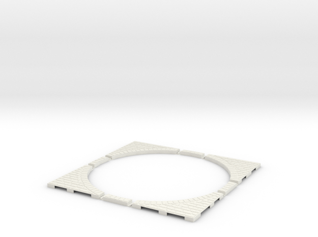 T-45-wagon-turntable-200d-200-corners-giant-1a in White Natural Versatile Plastic
