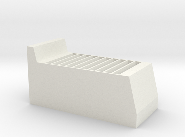 3DS/DS Game Cartridge Stand in White Natural Versatile Plastic