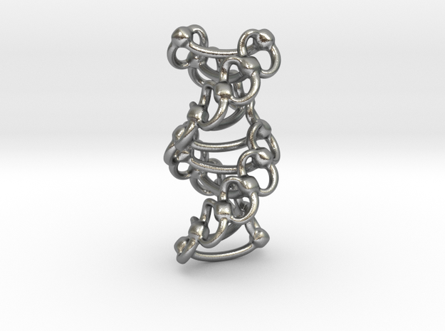 DNA Helixa - 25mm in Natural Silver