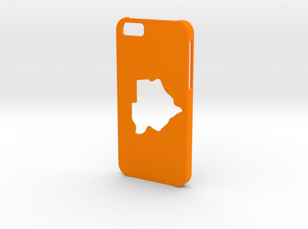 Iphone 6 Botswana Case in Orange Processed Versatile Plastic