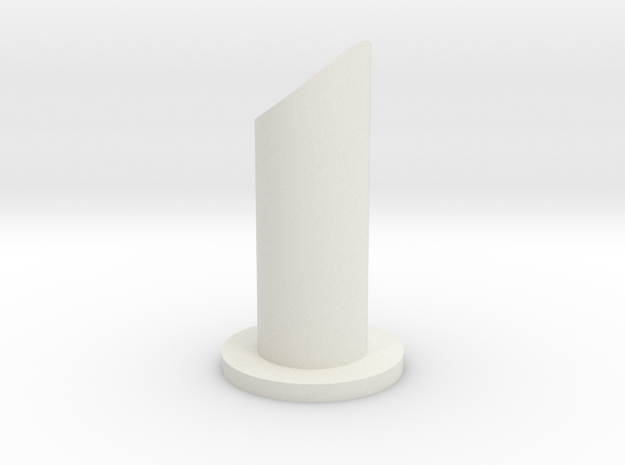 Valve Vent in White Natural Versatile Plastic