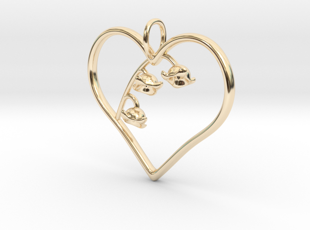 Lily of the Valley in 14k Gold Plated Brass