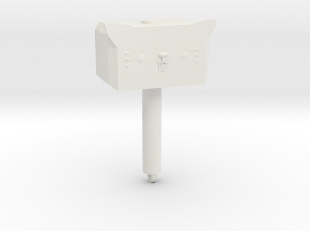 Mewnir (full size) in White Natural Versatile Plastic