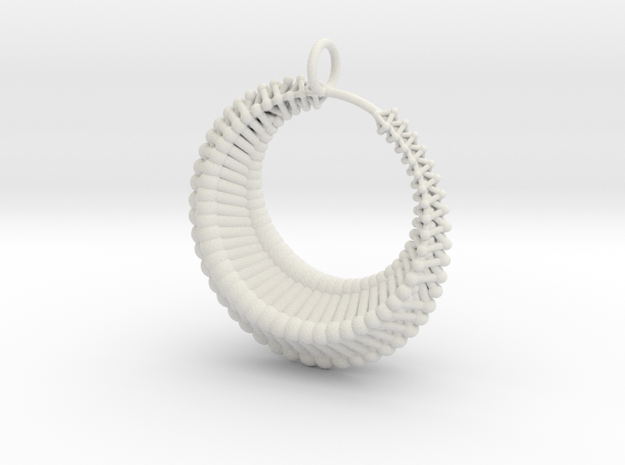 Luna1 pendant in White Natural Versatile Plastic