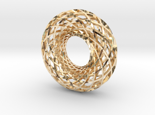 Torus 12, large in 14k Gold Plated Brass
