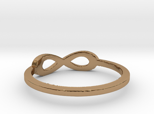 infinity ring Ring Size 7 in Polished Brass