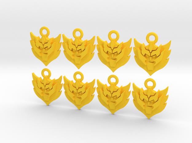 Rodimus Star in Yellow Processed Versatile Plastic