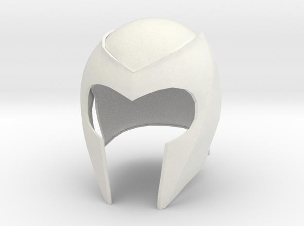 Magneto helmet from X-Men 1 movie in White Strong & Flexible