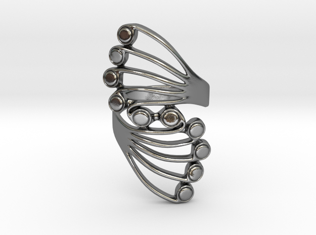 Butterfly Wing Ring Size 8 in Polished Silver