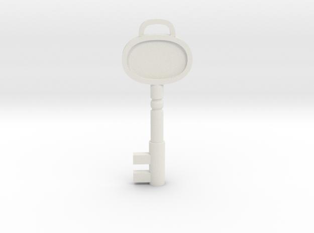 Resident Evil 3: Sickroom Key in White Natural Versatile Plastic