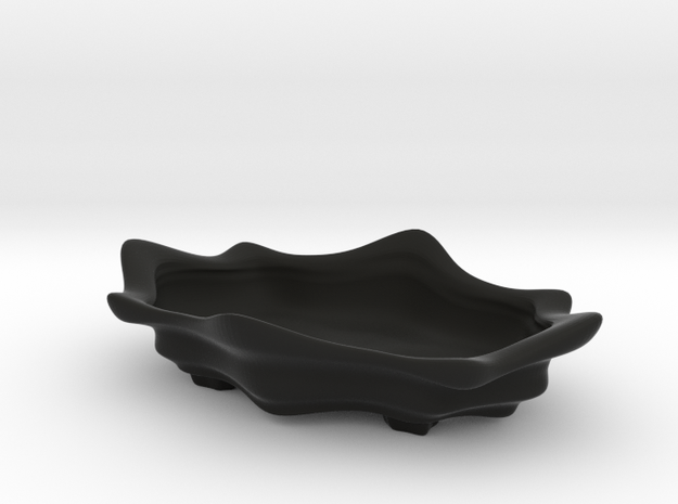 Bonsai Pot - Lotus Blossom in Black Natural Versatile Plastic