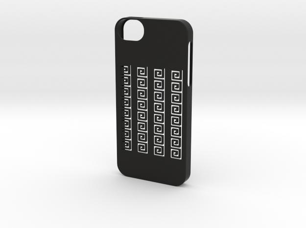 iphone 5 /5s case greek meander in Black Natural Versatile Plastic