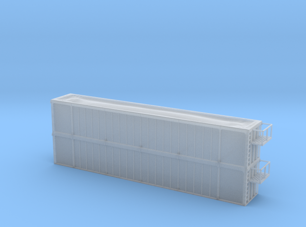 Trash Gondola Double Stack 53foot - HOscale in Smooth Fine Detail Plastic