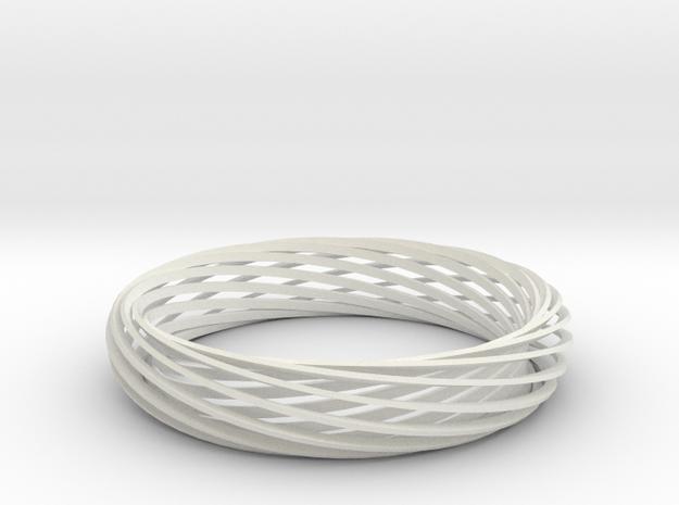 Mobius Bracelet in White Natural Versatile Plastic