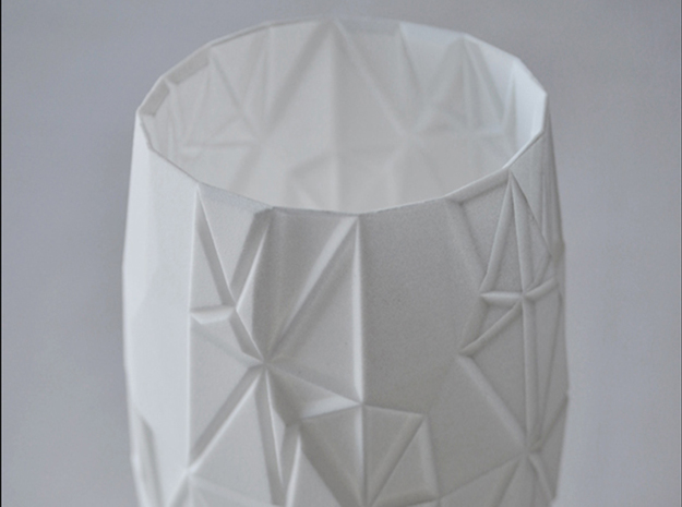 Origami Vase in White Strong & Flexible