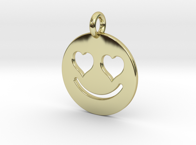 Smilie Love in 18k Gold Plated Brass