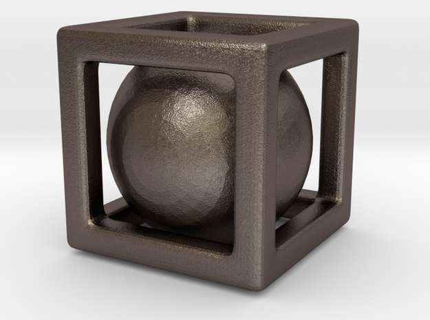 Ball In A Box in Stainless Steel