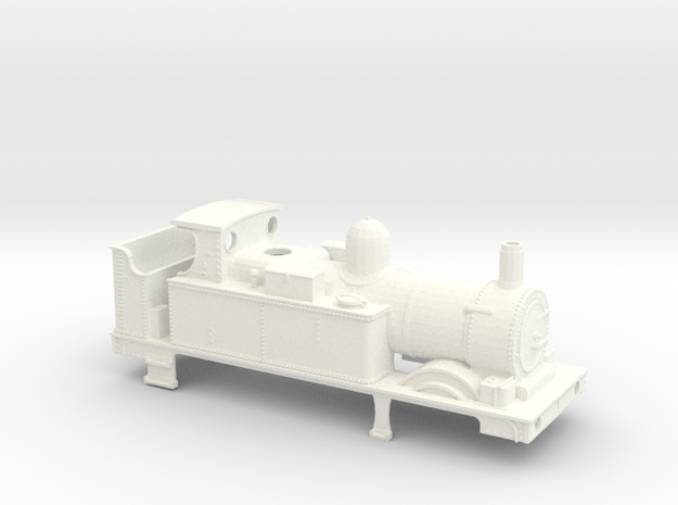 GWR 517 Body Class - Open Cab Belper Firebox in White Processed Versatile Plastic