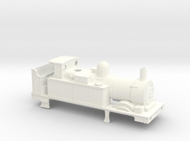GWR 517 Body Class - Open Cab Belper Firebox in White Processed Versatile Plastic
