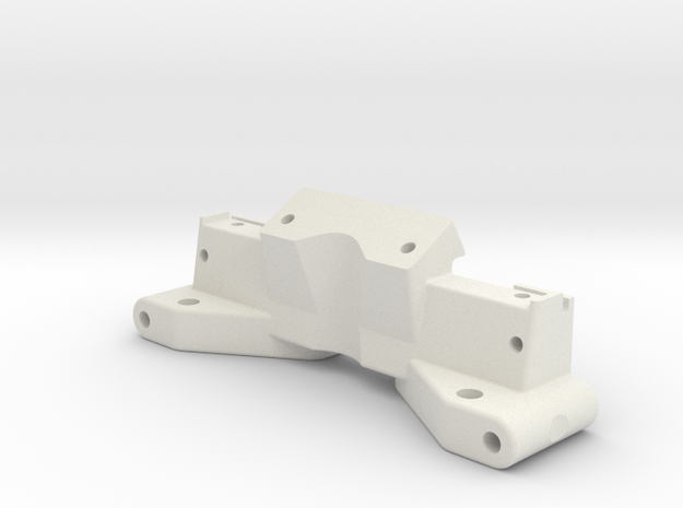 NIX62083 - RC10 front bulkhead with top deck mount in White Strong & Flexible