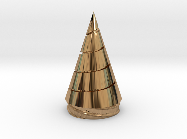 Gurren Lagann - Core Drill - Replaceable Drill Tip in Polished Brass